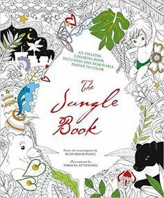 The Jungle Book Colouring And Removable Poster Fabiana Attanasio 9788854411654 Amazon