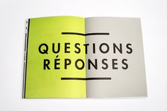 Q + A Possible title of series of questions & answers avec moi-meme?!