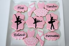 Ballet cookies!      By ThePinkMixingBowl     http://www.thepinkmixingbowl.com