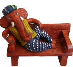 Beautiful sofa fiber #ganesha give as gifts to your loving family and friends, buy online with #craftshopsindia