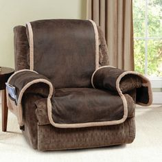 Sure Fit Vintage Leather Quilted Recliner Cover with Pocket Brown & Quilted Suede Furniture Friend Pet Recliner Cover Chocolate (Brown ... islam-shia.org