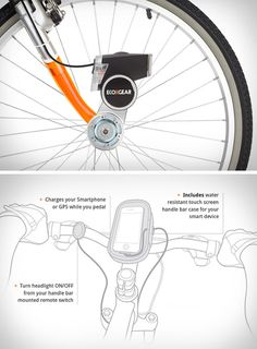 Charge your phone while pedaling your bike