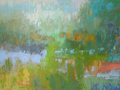 Southern Charm Jane Schmidt Landscape Lake Contemporary Canvas 32x24