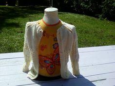 Girls light cream cardigan by inspirebynancy on Etsy, $39.00