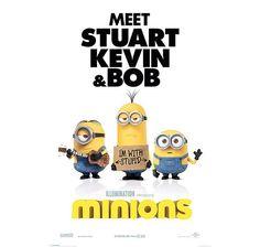 MINIONS POSTER TEASER MEET STUART, KEVIN & BOB Hier bei www.closeup.de