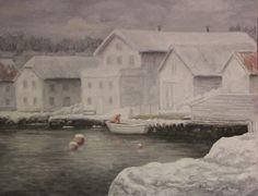 Vinterdag på fiskebrygga, Lillesand. www.oseland.info