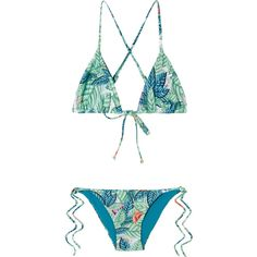 Mara Hoffman Printed triangle bikini ( 280) ❤ liked on Polyvore featuring  swimwear 44384b0e282c7