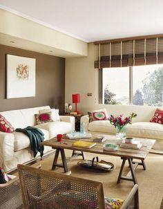 9 ideas de decoración de salas color chocolate