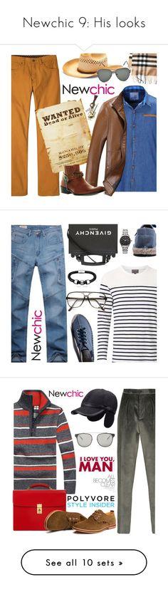 """Newchic 9: His looks"" by bugatti-veyron ❤ liked on Polyvore featuring prAna, Urban Pipeline, men's fashion, menswear, Witchery, Givenchy, ZeroUV, Citizen, Giorgio Armani and OHBA"