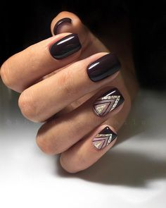 Nail art is a very popular trend these days and every woman you meet seems to have beautiful nails. It used to be that women would just go get a manicure or pedicure to get their nails trimmed and shaped with just a few coats of plain nail polish. Elegant Nails, Classy Nails, Stylish Nails, Elegant Chic, Square Nail Designs, Nail Art Designs, Nails Design, Design Art, Latest Nail Designs