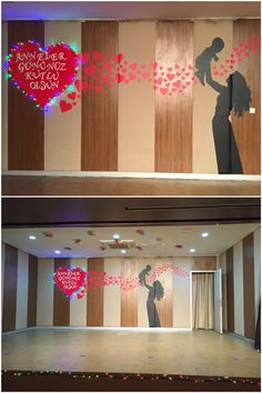 Stage decoration for mother's day. Stage decoration for Mother's Day. Mothers Day Decor, Mothers Day Crafts, School Decorations, Birthday Decorations, Diy And Crafts, Crafts For Kids, Church Stage Design, Mother's Day Diy, Mom Day
