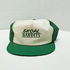 Skoal Bandit Adjustable Mesh Truckers Hat Green White Vintage Hipster  Skater  Skoal  Trucker Vintage 8ff0001c466a