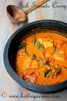 Have you ever tried Fish Tomato Curry? If not here is recipe for you to try… One of the most common recipe which mom makes several times a week is fish curry and we all in our family love … Veg Recipes, Curry Recipes, Seafood Recipes, Indian Food Recipes, Asian Recipes, Cooking Recipes, Healthy Recipes, Cooking Fish, Kerala Recipes
