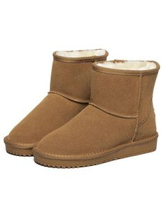 Camel Round Toe Thicken Boots 38.80