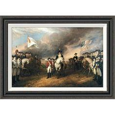 Global Gallery 'Surrender of Lord Cornwallis' by John Trumbull Framed Painting Print Size: