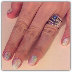 Pastel galaxy nails :)
