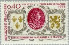Treaty of Aachen 1668. Annexation of Flanders to France