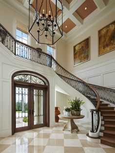 Extremely luxury entry hall designs with stairs home interior design hallway sustainable interior ideas Luxury Staircase, Foyer Staircase, Curved Staircase, Staircase Design, Staircases, Flur Design, Hall Design, Grand Entryway, Entry Hall