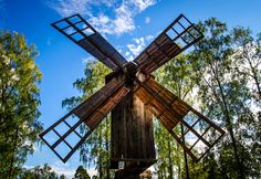 Finnish Windmill by Culture Vixen  - Traditional Finnish windmill in Helsinki, Finland