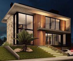 Best 35 Home Decor Ideas - Lovb House Front Design, Modern House Design, Diy Zimmer, Narrow House, Modern Architects, Facade Design, Facade House, Modern Exterior, Classic House