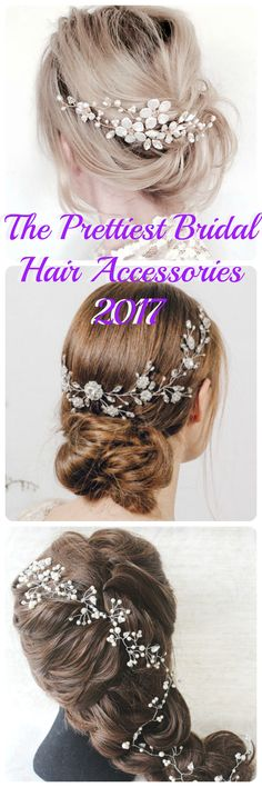 Brides are loving hair accessories and bridal hair vines right now. Here is a selection of the prettiest wedding hair pieces for 2017 brides!