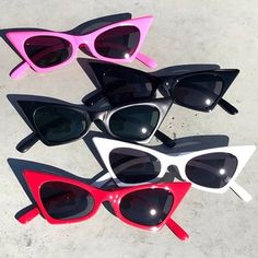9a5ef6c3f7 Retro Cateye Sunglasses in 5 colors to pick from (Pink