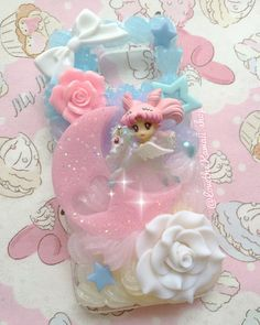 Galaxy S7 pronto per nave piccola signora Chibi Moon Sailor Moon Twinkle Dolky Kawaii Deco frusta Case Decoden