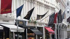 Bond street, full of big brands and high end designer wear
