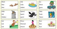 There are 24 irregular verbs presented in two videos. Each verb is then practiced in several different ways in 6 activities (e.g. crosswords, wordsearch)