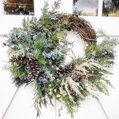These Elegant Christmas Wreaths Are What You Need For Your Front Door in 2020 Xmas Wreaths, Christmas Decorations, Holiday Decor, Elegant Christmas, Flower Farm, How To Make Wreaths, Front Porch, Happy Holidays, Great Gifts