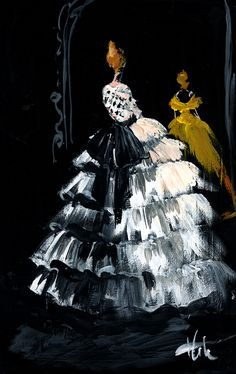 Marchesa Illustration by Katie Rodgers  #fashion
