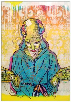 """An all time fav! """"St Francis"""" 24 x 40 inches Mixed Media on Birch Panel Multimedia Artist, St Francis, Birch, Spiderman, Mixed Media, Superhero, Artwork, Fictional Characters, Spider Man"""