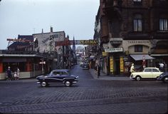 Reeperbahn looking north into Die Große Freiheit, Hamburg, Germany, August 1960, photograph by Frank da Cruz.
