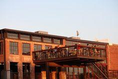 deck dining at the Eddy Pub in Saxapahaw- Washington Post
