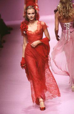 Diane Kruger for Lolita Lempicka Spring 1997.