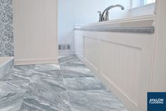 Bardiglio Light Marble in 12x12 is the perfect addition to your bathroom floor. Available in additional sizes including mosaics to complete the look and in honed or polished marble finishes.