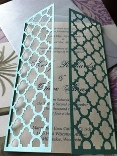 Laser Cut Wedding Invitations Moroccan Gate by CelineDesigns