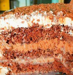 A Receita de Bolo Brigadeiro Gourmet, também conhecido como Bolo Mozão, da Doçaria Melo é um espetáculo. A massa leve e deliciosa é recheada com um brigade