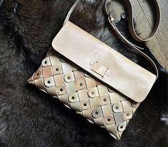 Small Leather crossbody handbag by @burtsevbags