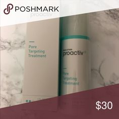 New in box - Proactiv+ Pore Targeting Treatment New in box - Proactiv+ Pore Targeting Treatment. Acne treatment gel with 2.5% benzoyl peroxide. 3 fl oz. 89 mL. Exp date is 2/18. I'm selling 2 of these treatments. Price is per treatment. *No trades. Makeup