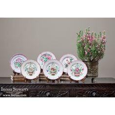 Antique China/Ceramics | Antique Hand-Painted French Faience Plates | www.inessa.com