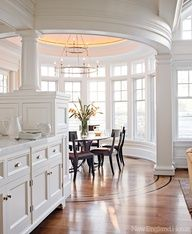 AWESOME breakfast nook!!!-South Shore Decorating Blog: A Study in White: 55 White Rooms Done Right