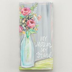 Glory Haus 'My Mother, My Friend' Painting Print on Canvas Canvas Art Projects, Diy Canvas, Friendship Canvas, Friend Canvas, Spring Painting, Paint And Sip, Art Tutorials, Painting Inspiration, Painting Prints
