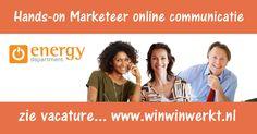 Vacature voor een Hands-on marketeer met medior ervaring in online communicatie voor 24 uur per week bij Energy Department in Amstelveen. Binnen een klein en ambitieus team krijg je alle vrijheid om te excelleren in strategie, uitrol en uitvoer van de marketing communicatie voor het bedrijf.