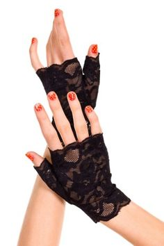 71de1bedc Madonna Material Girl Lace Fingerless Wrist Gloves - ONE SIZE - dash ray  bans