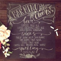 Handwritten wedding signage by Lilywillow designs