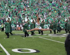 Kylie Marshall University Feature Twirler, split leap! :)