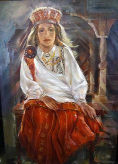 Viestarts Aistars, Latvian Artist from Nica, from the Latvian folk costume series