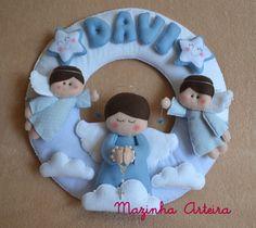 Enfeite de Porta Maternidade Anjinho | Mazinha Arteira | Elo7