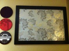T-shirt Cork Board and Glass Bulletin Board